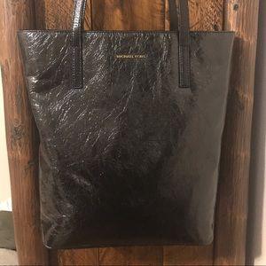 Michael Kors Emry Crinkled Black Leather Tote